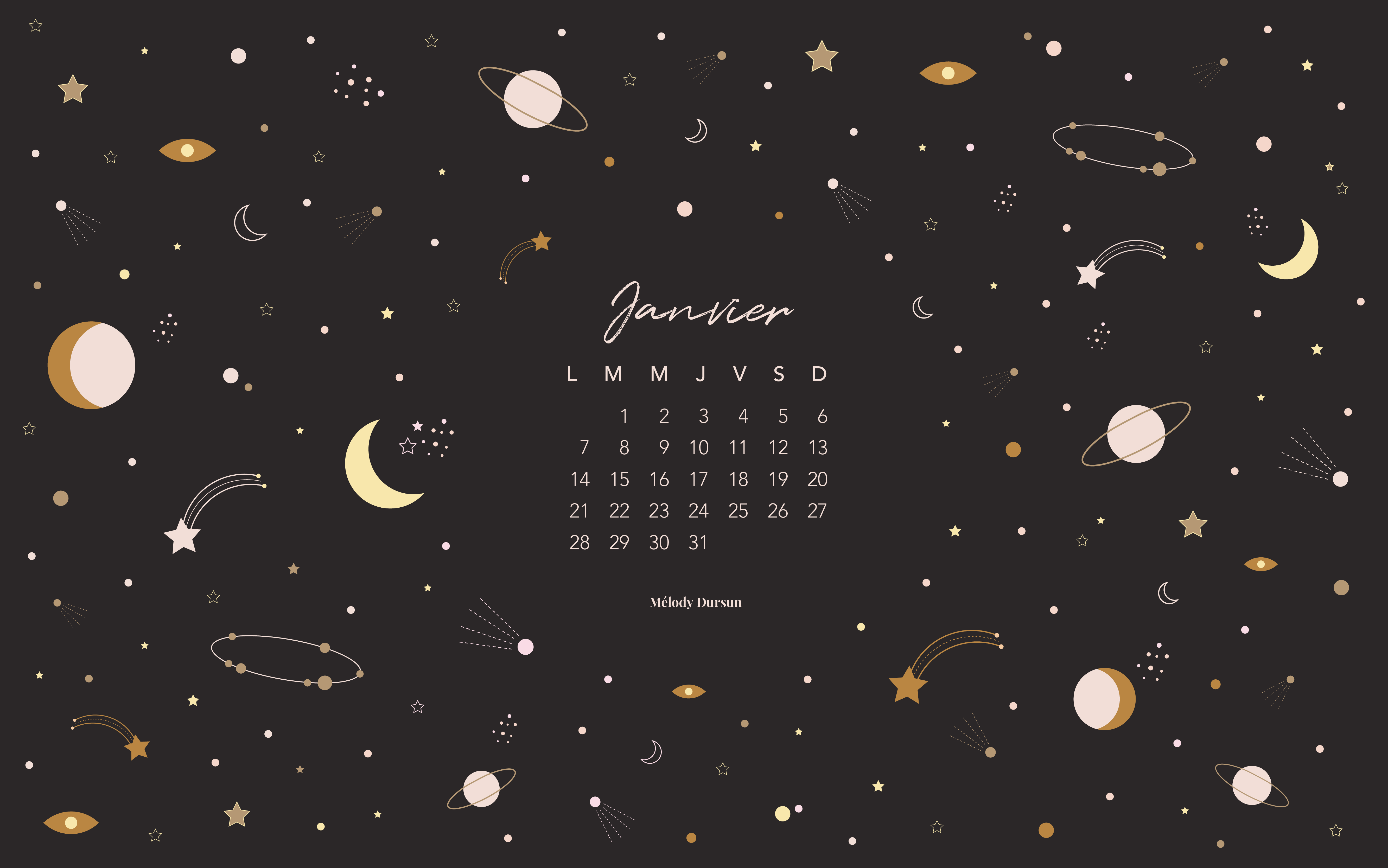 Calendrier & fonds d'écran – Janvier 2019