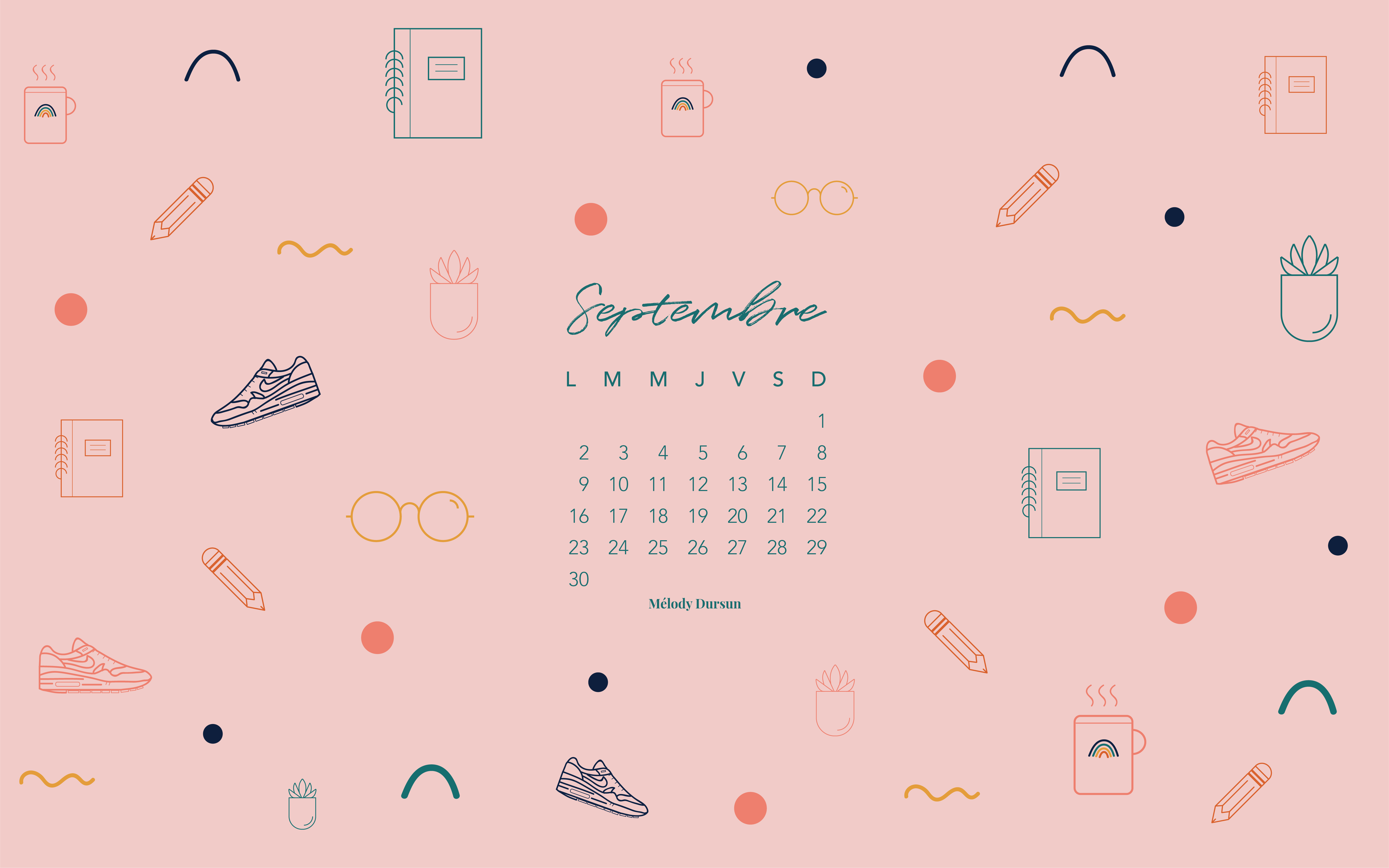 Calendrier & fonds d'écran – Septembre 2019