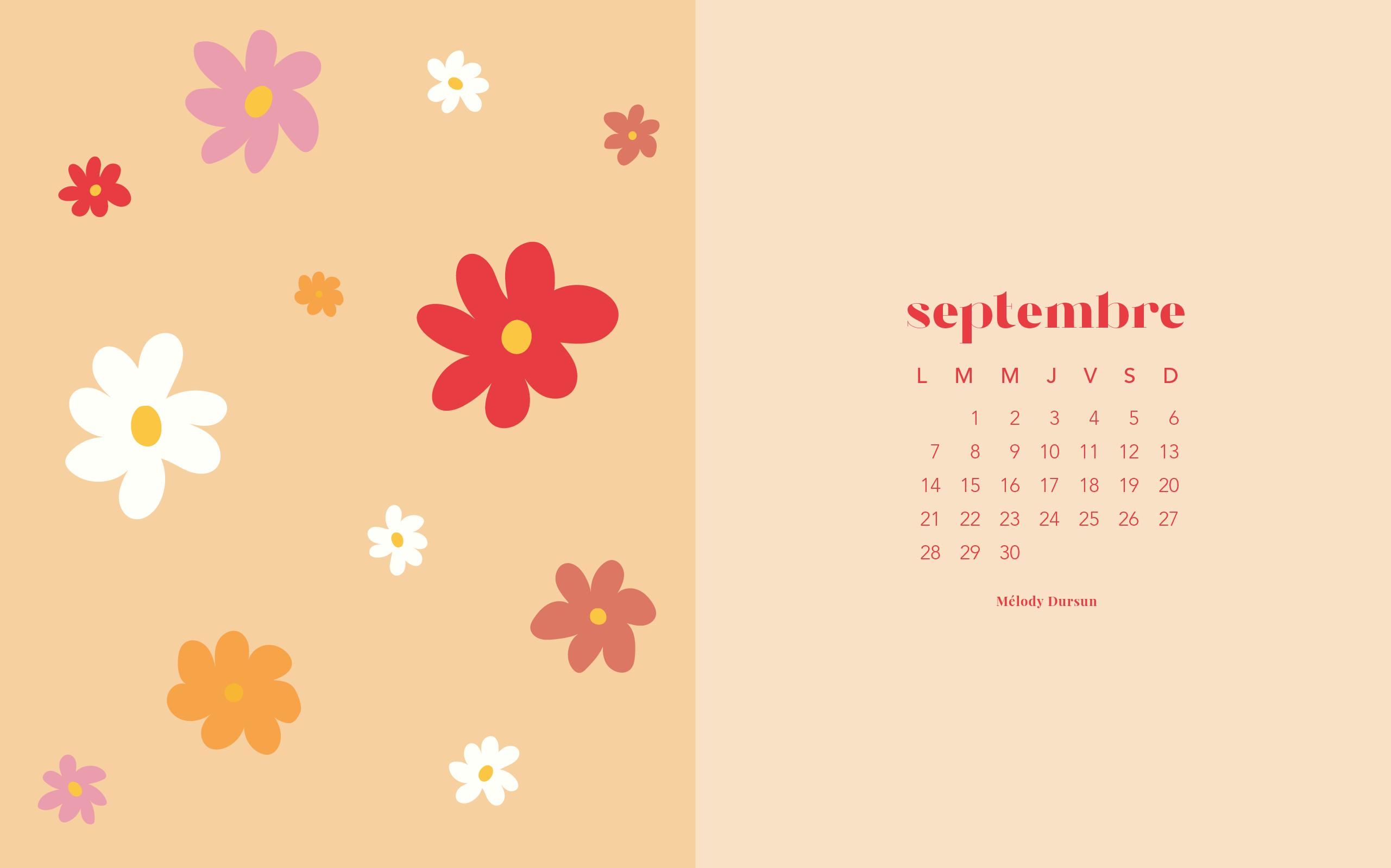 Calendrier & fonds d'écran – Septembre 2020