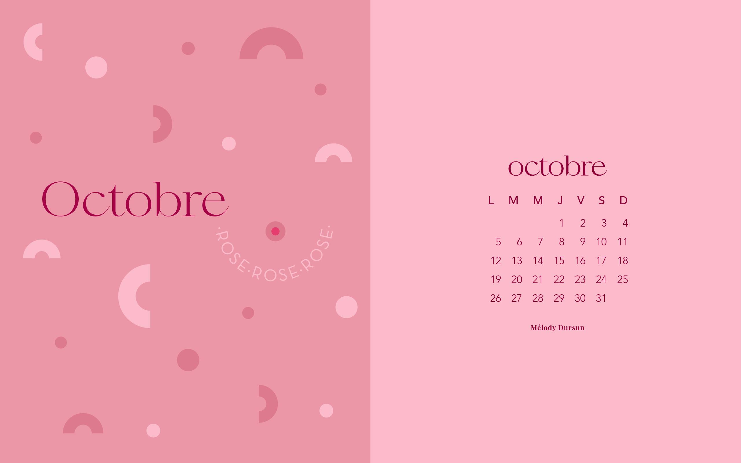 Calendrier & fonds d'écran – Octobre 2020